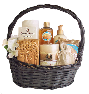 Argan Oil Bath Gift Basket with Spa Scents