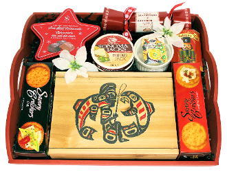 Gourmet Christmas Gift Tray with BC Smoked Salmon