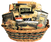 Holly Jolly Christmas Gourmet Basket
