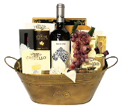 Wine and Cheese Gift Basket by Thoughtful Expressions Gift Baskets