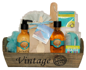 Argan Oil Bath Gift Basket by Thoughtful Expressions Canada