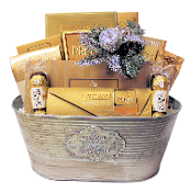 Joyful Occasions Christmas Gift Basket with Assorted Gourmet Snacks for personal or corporate gifting.