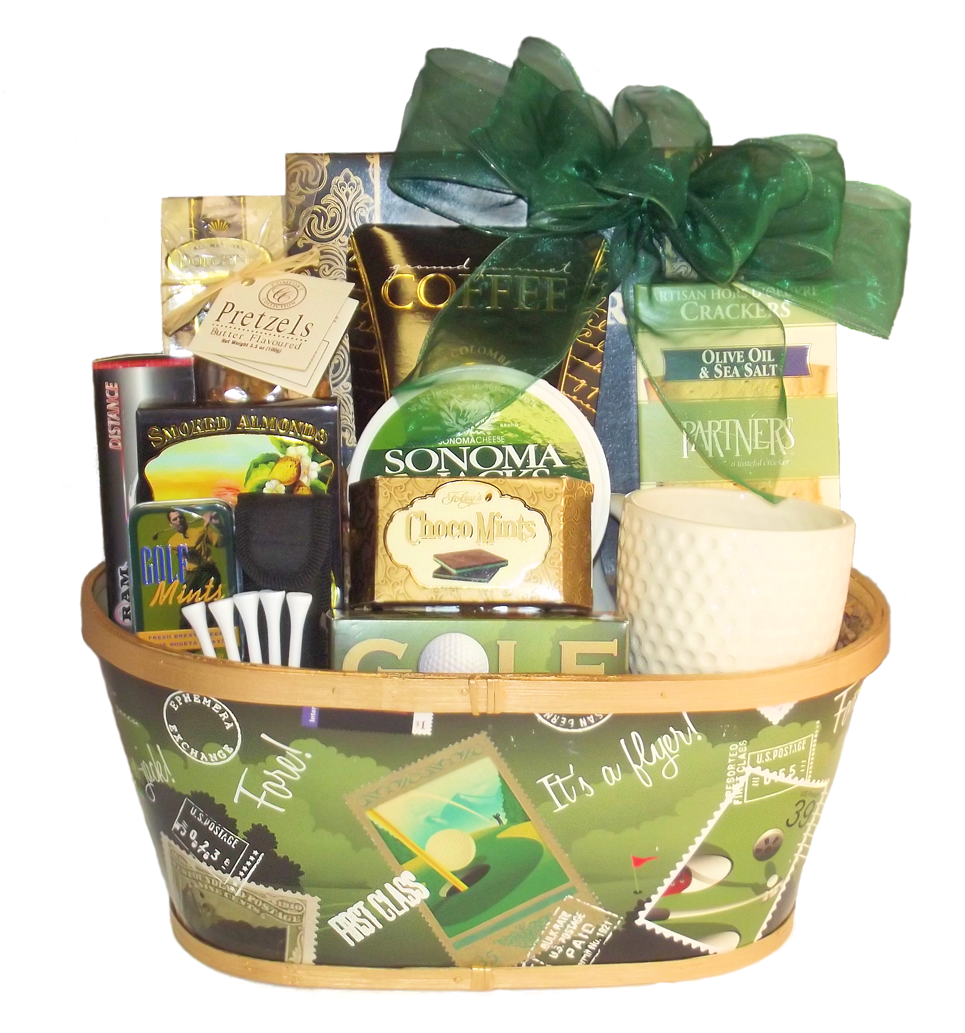 Golfers deluxe gift basket gift baskets canada online negle Images