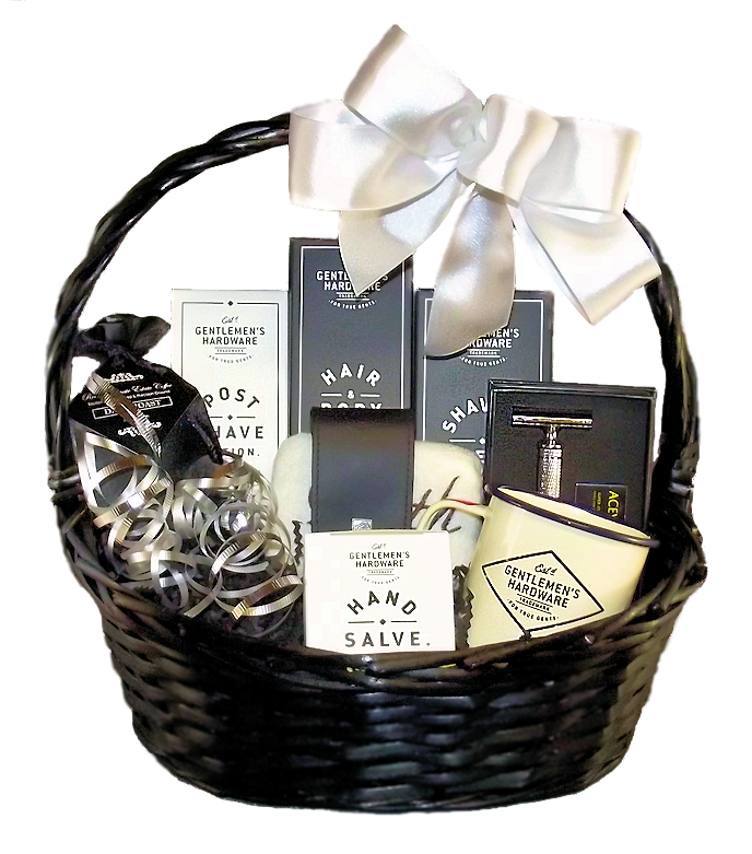 Bath gift baskets spa gift baskets relaxation baskets gift gift baskets for men gentlemens hardware luxury shaving and body products negle Images