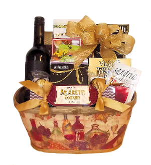 Italian Dinner Gift Basket with Red Wine by Thoughtful Expressions Gift Baskets Canada in fort st. John, BC.
