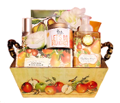 Golden Pear Home Products and Tea Gift Basket