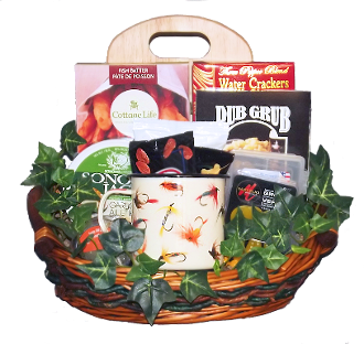 fishing gift basket available at thoughtful expressions gift baskets canada