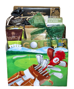 Gourmet Golf Themed Gift Basket Canada.