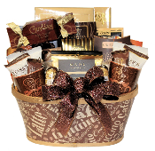 Coffee Lover Gift Basket with assorted coffee, cookies and snacks by Thoughtful Expressions Gift Baskets Canada