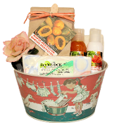 Papaya Mango Mini Bath Gift Basket