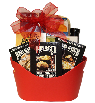Gourmet Cooking Gift Basket with spices, seasonings and sauces. Canada wide shipping.