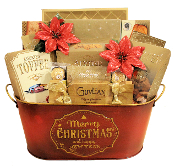Merry Christmas Gourmet Gift Basket Canada