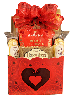 chocolate gift basket for valentine's day or anniversary