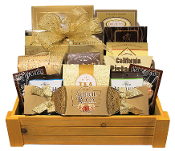 assorted gourmet snacks gift basket by thoughtful expressions