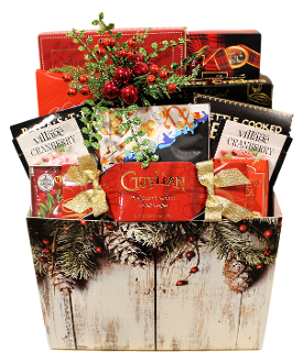 gourmet snack selection holiday gift basket by Thoughtful Expressions