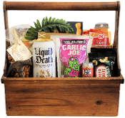Man Cave Toolbox Snacks Gift Basket