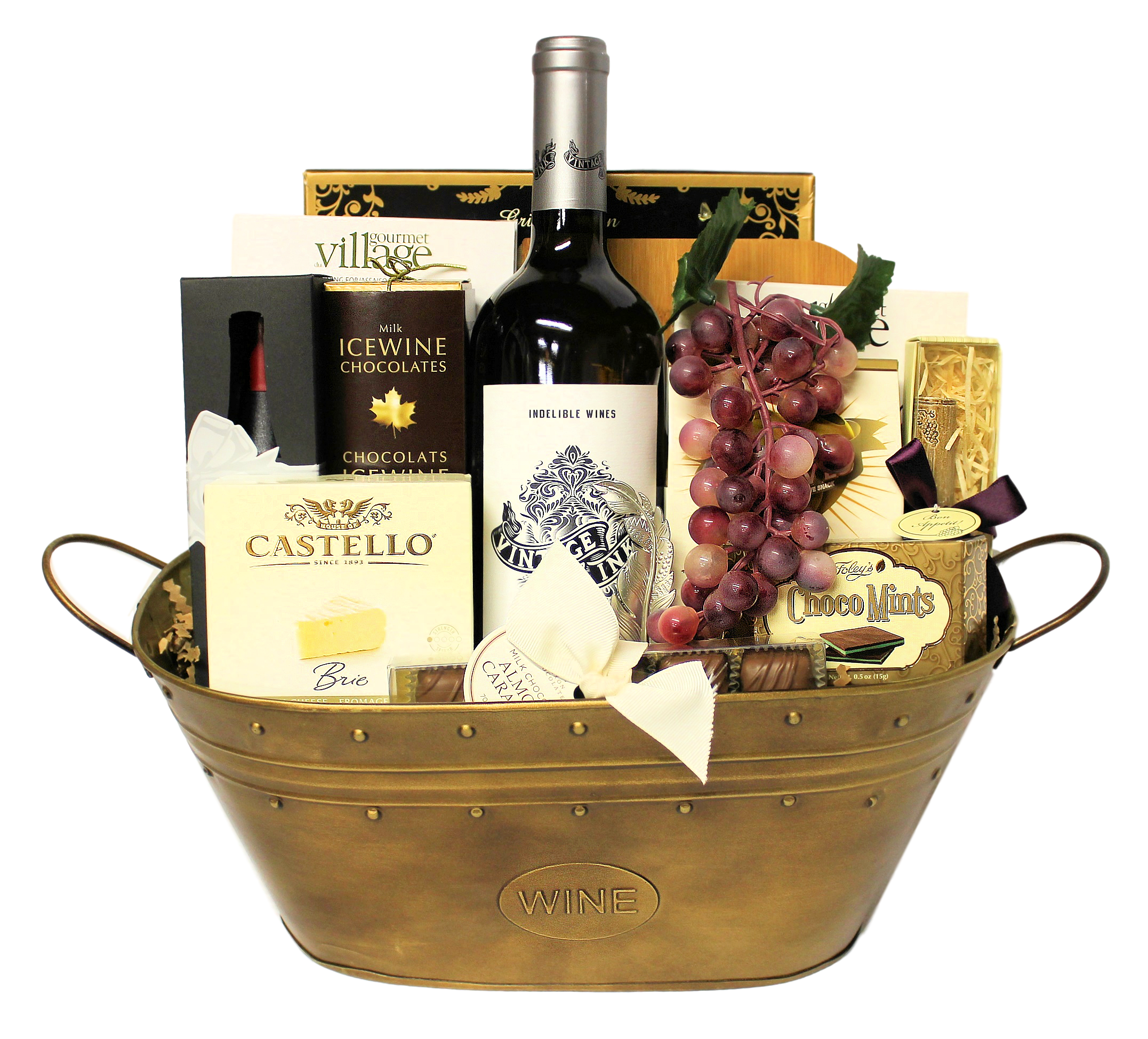 Wine & Cheese Gift Baskets | Time for Wine Gift Basket by Thoughtful Expressions